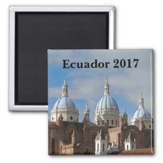 Ecuador - Cathedral of the Immaculate Conception Square Magnet