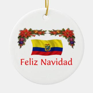 Ecuador Christmas Ceramic Ornament