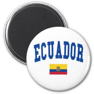 Ecuador College Style 6 Cm Round Magnet