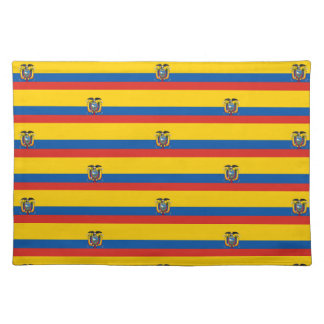 Ecuador country flag symbol long placemat