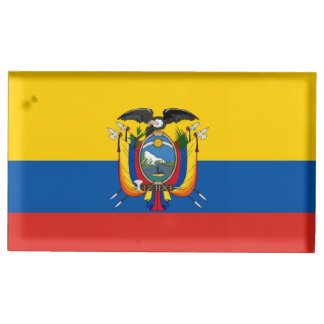 Ecuador country flag symbol long table number holder