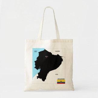 ecuador country political map flag tote bag