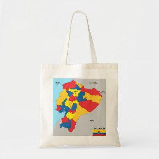 ecuador country political map flag bag