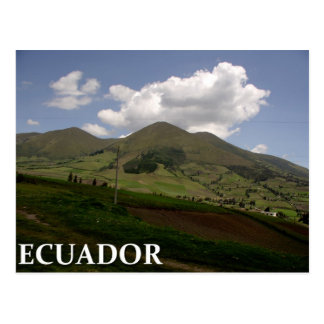 Ecuador countryside postcard
