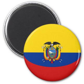 Ecuador Fisheye Flag Magnet