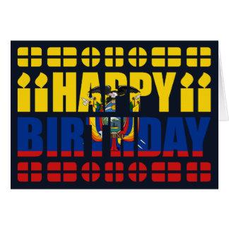 Ecuador Flag Birthday Card