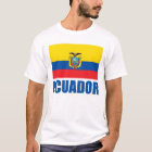 Ecuador Flag Blue Text T-Shirt