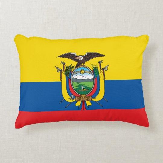 Ecuador Flag Decorative Cushion
