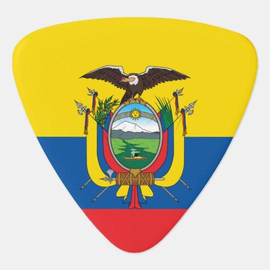 Ecuador Flag Guitar Pick
