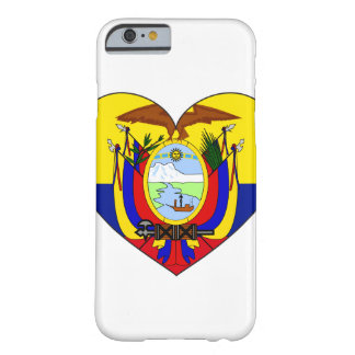 Ecuador Flag Heart Barely There iPhone 6 Case