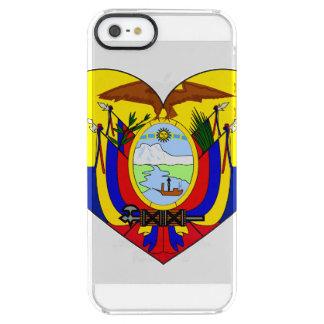 Ecuador Flag Heart Clear iPhone SE/5/5s Case