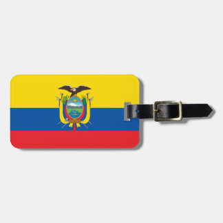 Ecuador Flag Luggage Tag