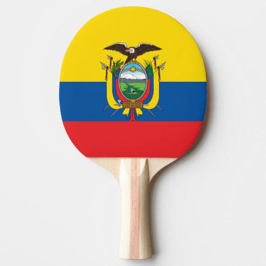 Ecuador Flag Ping Pong Paddle