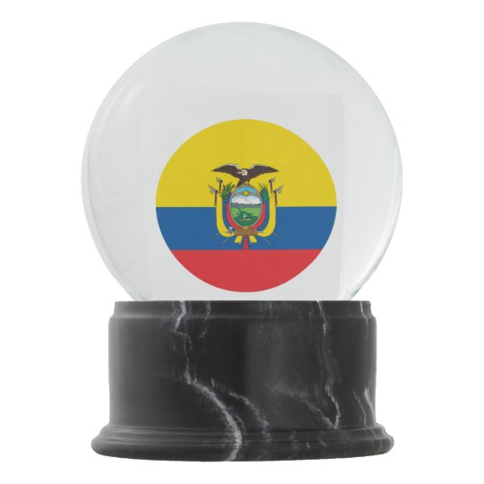 Ecuador Flag Snow Globe