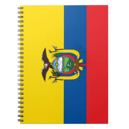 Ecuador Flag Spiral Notebook