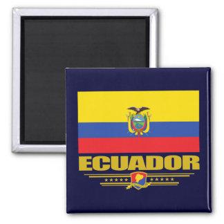 Ecuador Flag Square Magnet