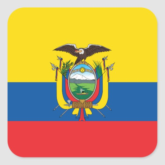 Ecuador Flag Square Sticker