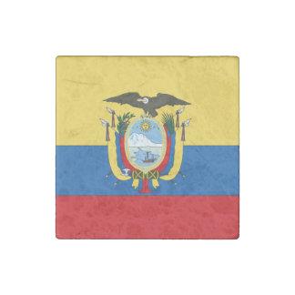 Ecuador Flag Stone Magnet
