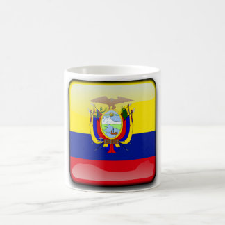Ecuador glossy flag coffee mug