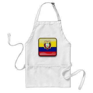 Ecuador glossy flag standard apron
