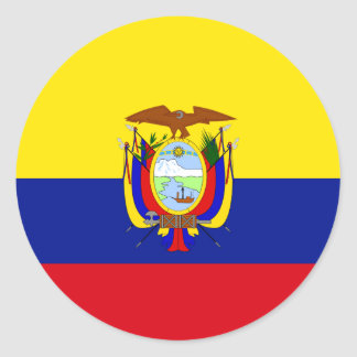 Ecuador High quality Flag Classic Round Sticker