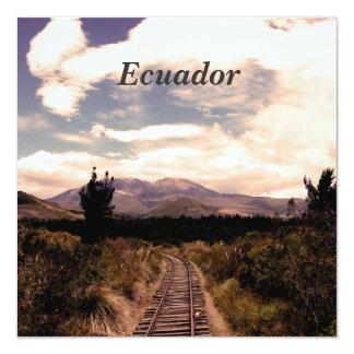 """Ecuador 5.25"""" Square Invitation Card"""