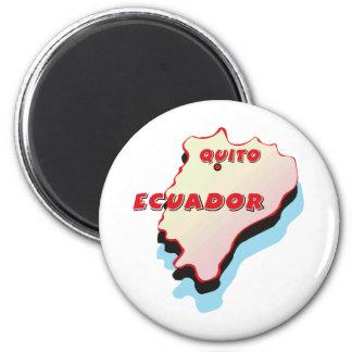 Ecuador Map 6 Cm Round Magnet