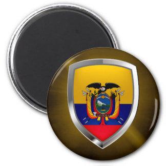Ecuador Mettalic Emblem 6 Cm Round Magnet