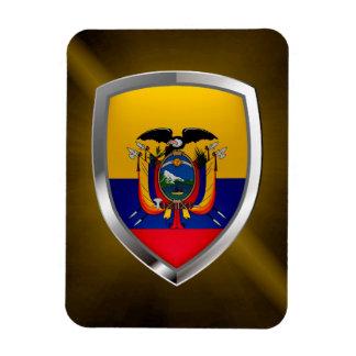 Ecuador Mettalic Emblem Rectangular Photo Magnet