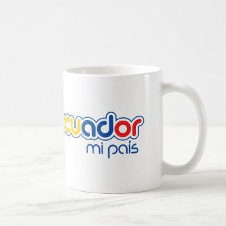 Ecuador mi pais coffee mug
