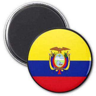 Ecuador quality Flag Circle Magnet