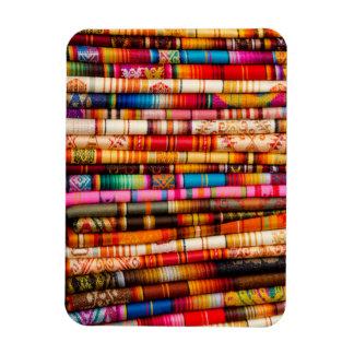 Ecuador, Quito Area, Otavalo Handicraft Market Rectangular Photo Magnet