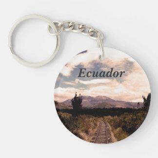 Ecuador Single-Sided Round Acrylic Key Ring