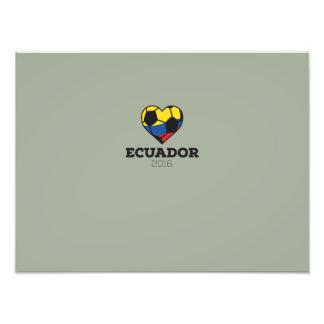 Ecuador Soccer Shirt 2016 Photographic Print