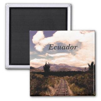 Ecuador Square Magnet