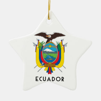 Ecuador - symbol/coat of arms/flag/colors/emblem ceramic ornament