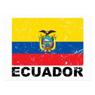 Ecuador Vintage Flag Postcard