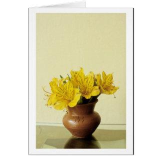 Ecuador yellow flowers card