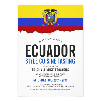 Ecuadorian Cuisine | Party Flag White Invite