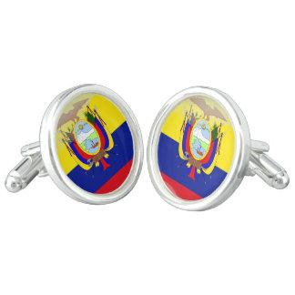 Ecuadorian flag cuff links