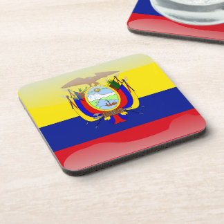 Ecuadorian glossy flag coaster