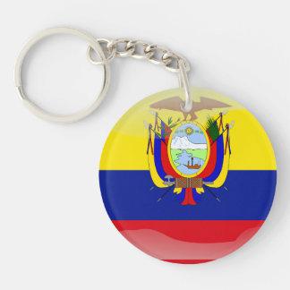 Ecuadorian glossy flag key ring