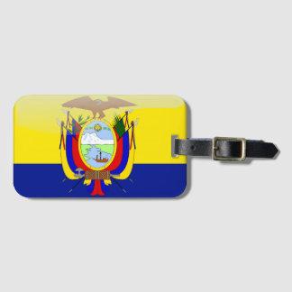 Ecuadorian glossy flag luggage tag