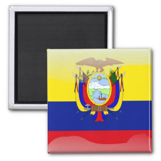 Ecuadorian glossy flag magnet