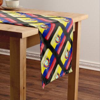 Ecuadorian glossy flag short table runner