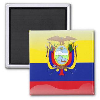 Ecuadorian glossy flag square magnet