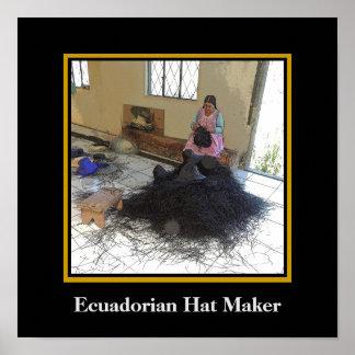Ecuadorian Hat Maker Poster
