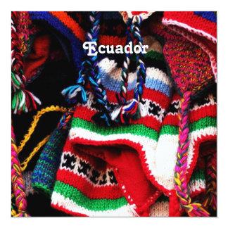 """Ecuadorian 5.25"""" Square Invitation Card"""