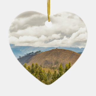 Ecuadorian Landscape at Chimborazo Province Ceramic Heart Decoration