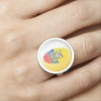 Ecuadorian touch fingerprint flag